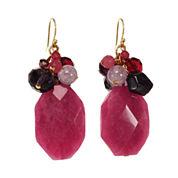 ROX by Alexa Purple & Pink Gemstone Cluster Earrings