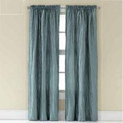 Luxe Taffeta Rod-Pocket Curtain Panel
