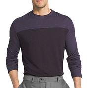 Van Heusen® Long Sleeve Two-Toned Crewneck Doubler Tee