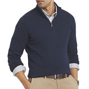 VAN HEUSEN® BLOCK RIBBED QUARTER-ZIP SWEATER