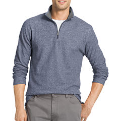 IZOD Long-Sleeve Saltwater Heather Quarter Zip