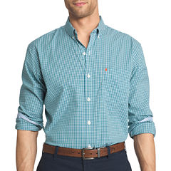 IZOD Long-Sleeve Advantage Non Iron Plaid Shirt