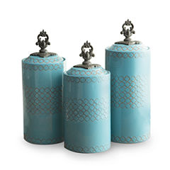 Jay Imports Blue 3-pc. Canister