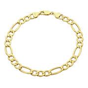 Infinite Gold™ 14K Yellow Gold Hollow Figaro Chain Bracelet