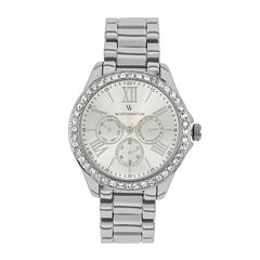 Worthington Womens Silver Tone Bracelet Watch-Wt00006-01