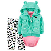 Carter's Girls 3-pc. Pant Set-Baby