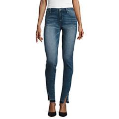 Arizona Twisted-Seam Released-Hem Cropped Jeans - Juniors