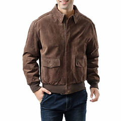 Landing Leathers Men's A-2 Suede Leather Flight Bomber Jacket - Big and Tall
