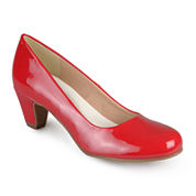 Journee Collection Luu Round Toe Patent Pumps