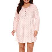 Adonna Fleece Long Sleeve Nightshirt-Plus