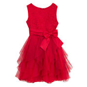 Rare Editions Short Sleeve Party Dress - Preschool