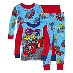 4-pc. Blaze And The Monster Machines Pajama Set- Toddler Boys 2t-4t