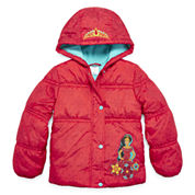 Disney Girls Elena of Avalor Midweight Puffer Jacket-Big Kid