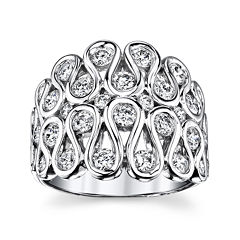 Sirena® 1¾ CT. T.W. Diamond 14K White Gold Swirl Dome Ring