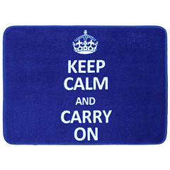 Mohawk Home® Keep Calm and Carry On Bath Rug