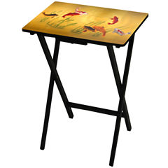 Oriental Furniture Lucky Fish TV Tray Table