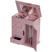 Pink Musical Ballerina Tall Jewelry Box
