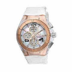 Techno Marine Womens White Strap Watch-Tm-115310