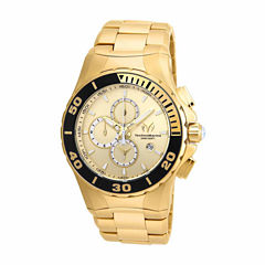 Techno Marine Mens Gold Tone Bracelet Watch-Tm-215044
