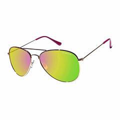 Liz Claiborne Full Frame Aviator UV Protection Sunglasses