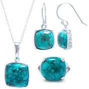 Enhanced Turquoise Sterling Silver 3-pc. Jewelry Set