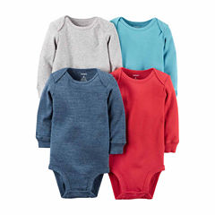 Carter's® 4-pk. Long-Sleeve Multicolor Bodysuits - Baby Girls newborn-24m
