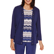 Alfred Dunner® Crescent City   Stripe Layered Sweater