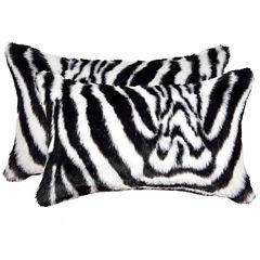 Luxe Faux Zebra Throw Pillow