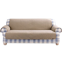 SURE FIT® Cotton Duck Loveseat Pet Furniture Cover