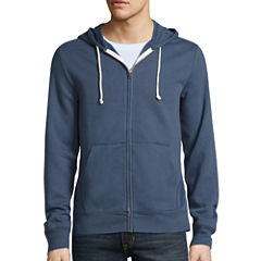 Arizona Solid Full-Zip Fleece Hoodie