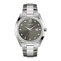 bulova men s watches for jewelry watches jcpenney bulova® diamonds mens diamond accent stainless steel watch 96d122