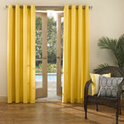 Sun Zero™ Batai Indoor/Outdoor Woven Solid Grommet-Top Curtain Panel