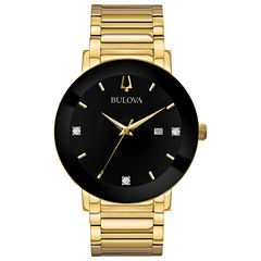 Bulova Mens Gold Tone Bracelet Watch-97d116