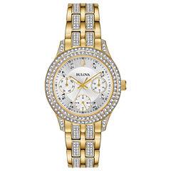 Bulova Womens Gold Tone Bracelet Watch-98n112