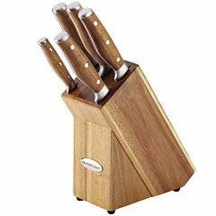Rachael Ray® Cucina Cutlery 6-pc. Knife Set - Acacia Handles