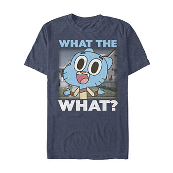 Slim Gumball What The What Mens Crew Neck Short Sleeve Graphic T shirt