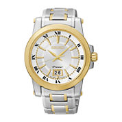 Seiko® Mens Two-Tone Stainless Steel Automatic Watch SUR016