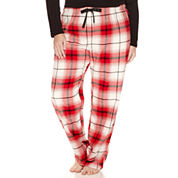 Sleep Chic Flannel Pajama Pants-Plus