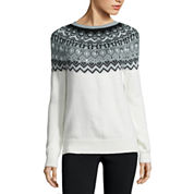 St. John's Bay® Beaded Fairisle Sweater