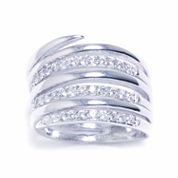 Sparkle Allure Womens Cubic Zirconia Silver Over Brass