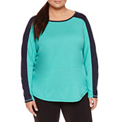 Xersion 3/4 Sleeve Scoop Neck T-Shirt-Plus