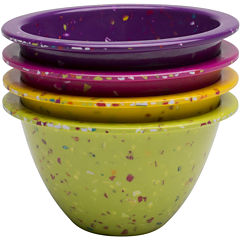 Zak Designs® Confetti Set of 4 Classic Prep Bowls