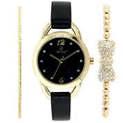 Decree Womens Gold Tone Watch Boxed Set-Dcr270ls