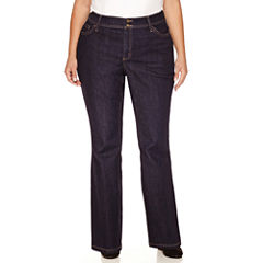 St. John's Bay Straight Fit Bootcut Jeans-Plus