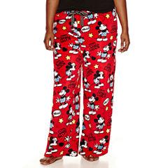 Disney Mickey Mouse Fleece Pajama Pants-Juniors Plus