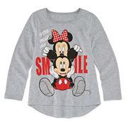 Disney By Okie Dokie Girls Minnie Mouse Graphic T-Shirt-Preschool