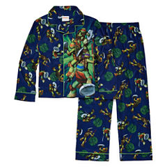 2-pc. Button-Front Teenage Mutant Ninja Turtles Pajama Set- Boys 4-10