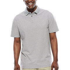 Claiborne® Short-Sleeve Slim-Fit Stripe Polo