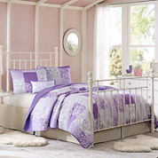 Mi Zone Abby Patchwork Quilt Set + BONUS Decorative Pillow