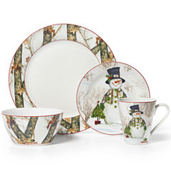 Mossy Oak® Snowman Holiday 16-pc. Porcelain Dinnerware Set